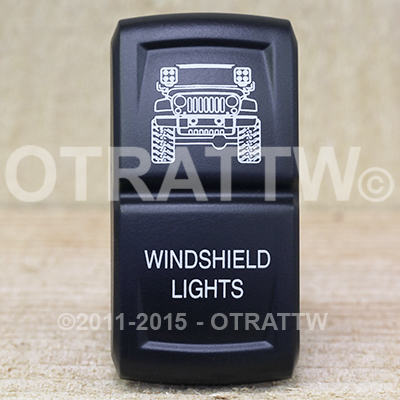CONTURA XIV, JEEP JK WINDSHIELD LIGHTS, ROCKER ONLY