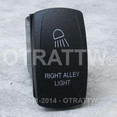 CONTURA V, RIGHT ALLEY LIGHT, UPPER DEPENDENT LED ONLY
