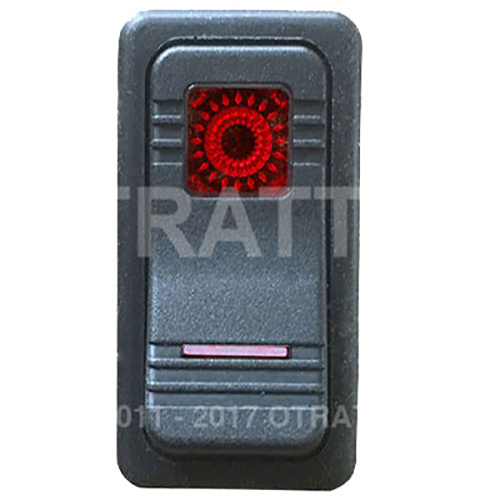 CONTURA X SEALED ROCKER SWITCH RED LENS