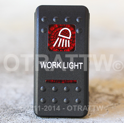 CONTURA II, WORKLIGHT, RED LENS, UPPER INDEPENDENT, INCANDESCENT LIGHTS