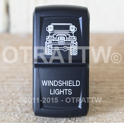 CONTURA XIV, JEEP TJ WINDSHIELD LIGHTS, UPPER LED INDEPENDENT