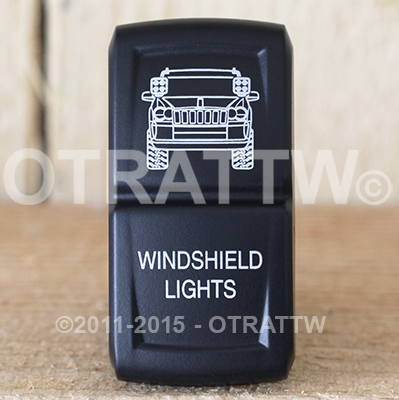 CONTURA XIV, JEEP GRAND CHEROKEE WINDSHIELD LIGHTS, LOWER LED INDEPENDENT