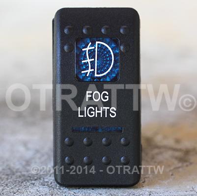 CONTURA II, FOG LIGHTS, BLUE LENS, ROCKER ONLY