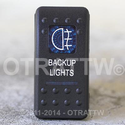 CONTURA II, BACKUP LIGHTS, BLUE LENS, ROCKER ONLY