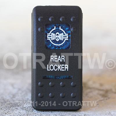 CONTURA II, REAR LOCKER, BLUE LENS, ROCKER ONLY