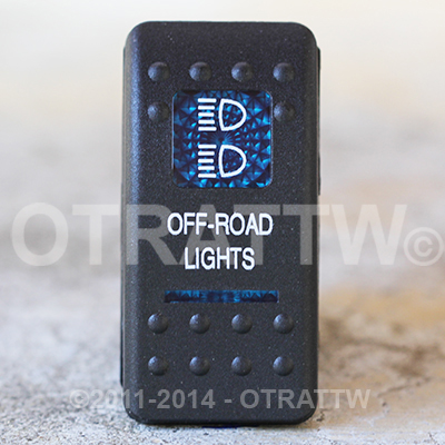 CONTURA II, OFF-ROAD LIGHTS, BLUE LENS, UPPER INDEPENDENT, INCANDESCENT LIGHTS