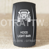 CONTURA V, JEEP JK HOOD LIGHT BAR, UPPER LED INDEPENDENT