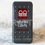 CONTURA II, REVERSE LIGHTS, RED LENS, UPPER INDEPENDENT, INCANDESCENT LIGHTS