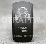 CONTURA V, RZR A-PILLAR LIGHTS, UPPER LED INDEPENDENT