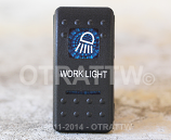CONTURA II, WORKLIGHT, BLUE LENS, LOWER INDEPENDENT, INCANDESCENT LIGHTS