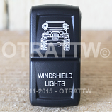 CONTURA XIV, JEEP TJ WINDSHIELD LIGHTS, UPPER DEPENDENT LED ONLY