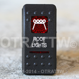 CONTURA II, ROOF LIGHTS, RED LENS, UPPER INDEPENDENT, INCANDESCENT LIGHTS