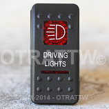 CONTURA II, DRIVING LIGHTS, RED LENS, UPPER INDEPENDENT, INCANDESCENT LIGHTS