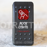 CONTURA II, ROCK LIGHTS, RED LENS, ROCKER ONLY