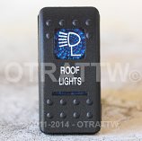 CONTURA II, ROOF LIGHTS, BLUE LENS, LOWER INDEPENDENT, INCANDESCENT LIGHTS