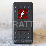 CONTURA II, LIGHTNING BOLT, RED LENS, UPPER INDEPENDENT, INCANDESCENT LIGHTS