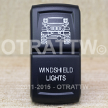 CONTURA XIV, JEEP JK WINDSHIELD LIGHTS, UPPER DEPENDENT LED ONLY