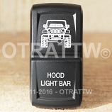 CONTURA XIV, JEEP JK HOOD LIGHT BAR, ROCKER ONLY