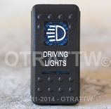 CONTURA II, DRIVING LIGHTS, BLUE LENS, UPPER INDEPENDENT, INCANDESCENT LIGHTS