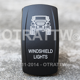 CONTURA V, JEEP JK WINDSHIELD LIGHTS, UPPER LED INDEPENDENT