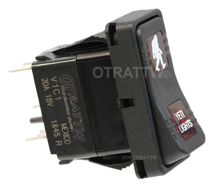 RED LENS OTRATTW Carling Technologies Contura II Rocker Switch STROBE LIGHTS