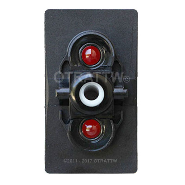 DPDT Lighted Green Lens Carling Technologies Toggle Switch ON//OFF//ON
