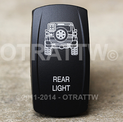 the standard in high quality custom rocker switches OTRATTW Rocker Switch contura v, fj cruiser rear light, upper led independent